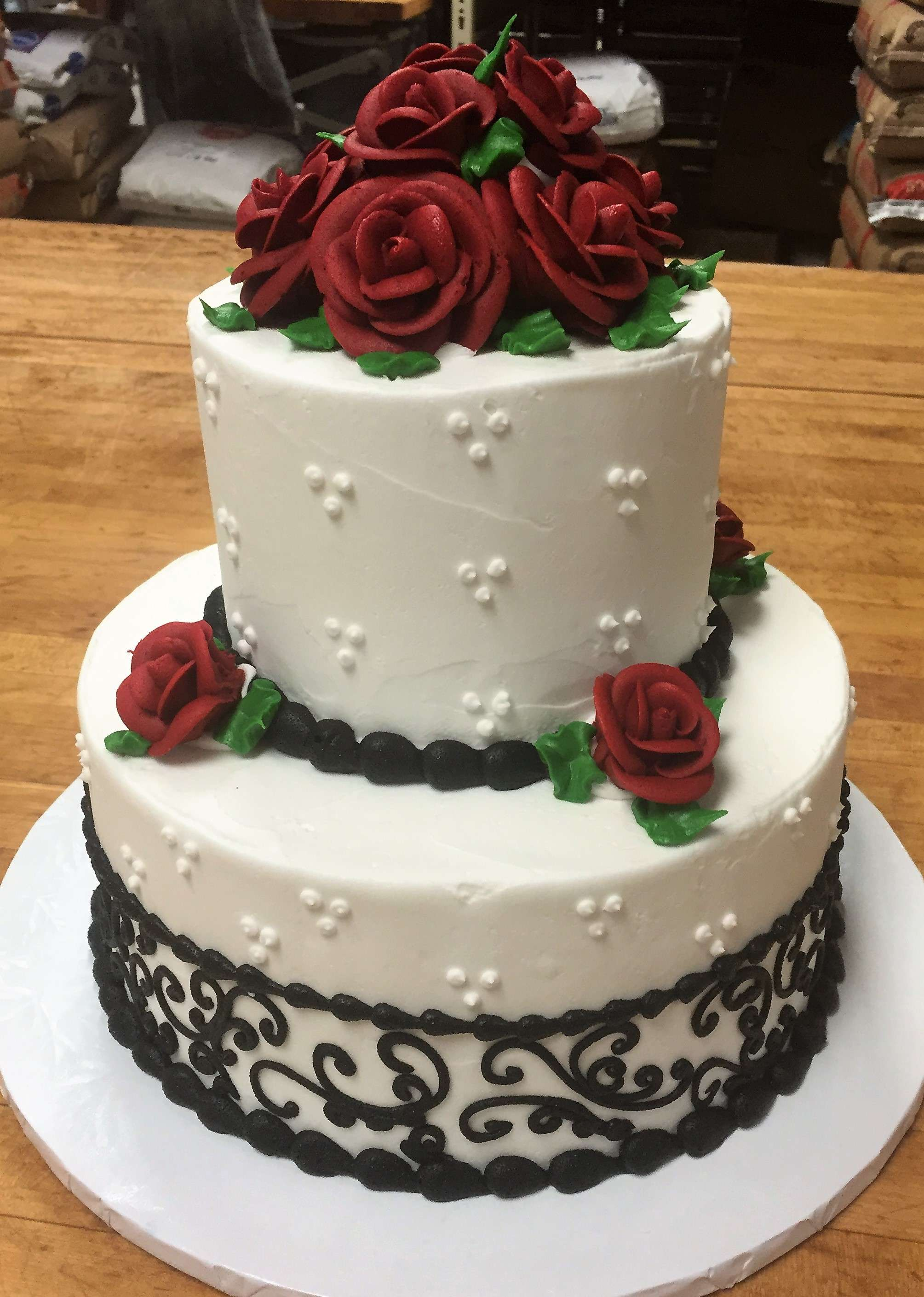 Scroll Wedding Cakes