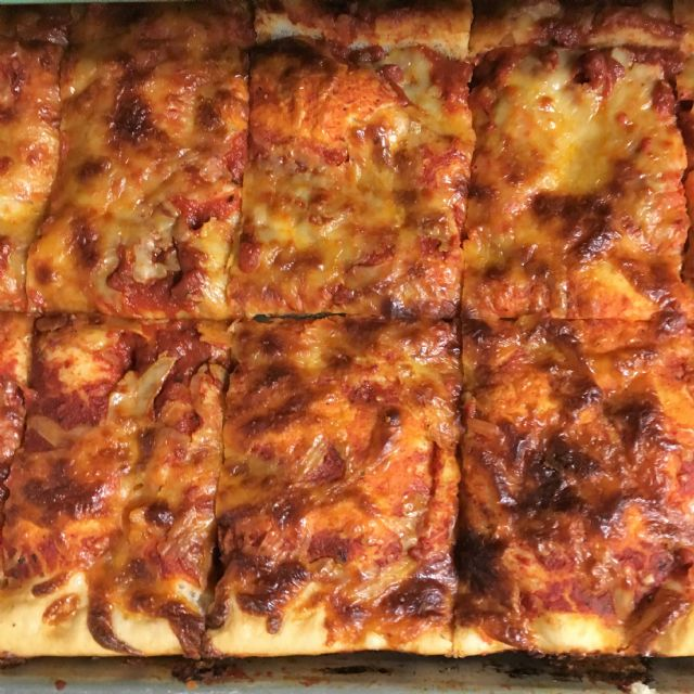 Sicilian Style Sheet Pizza